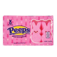 PEEPS PINK BUNNIES 4 PIECE 1.13 OZ