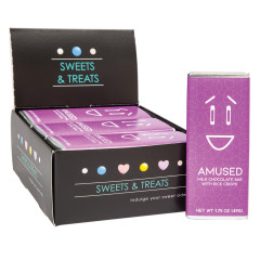 AMUSEMINTS MILK CHOCOLATE WITH CRISPY EMOTION BAR AMUSED 1.75 OZ