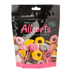GUSTAF'S LICORICE ALLSORTS 7 OZ POUCH