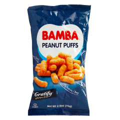 GRATIFY BAMBA PEANUT PUFFS 2.5 OZ BAG