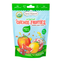TORIE & HOWARD ASSORTED CHEWIE FRUITIES 4 OZ POUCH