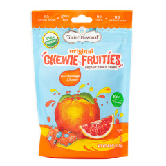 TORIE & HOWARD BLOOD ORANGE HONEY CHEWIE FRUITIES 4 OZ POUCH