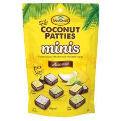 ANASTASIA ASSORTED MINI COCONUT PATTIES 12 OZ PEG BAG