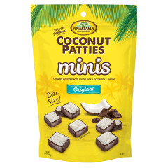 ANASTASIA ORIGINAL MINI COCONUT PATTIES 12 OZ PEG BAG