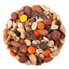 NASSAU CANDY PEANUT BUTTER RAINBOW DELIGHT NUT MIX 10 LB
