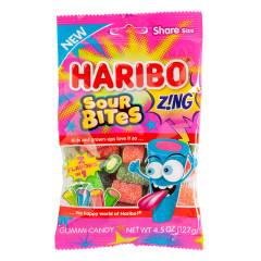 HARIBO ZING SOUR BITES 4.5 OZ PEG BAG