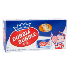 DUBBLE BUBBLE 1928 NOSTALGIA 3.5 OZ THEATER BOX