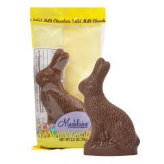MADELAINE MILK CHOCOLATE SITTING RABBIT 2.5 OZ