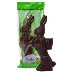 MADELAINE DARK CHOCOLATE STANDING RABBIT 14 OZ