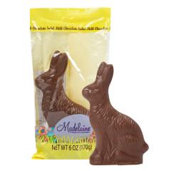 MADELAINE MILK CHOCOLATE SITTING RABBIT 6 OZ