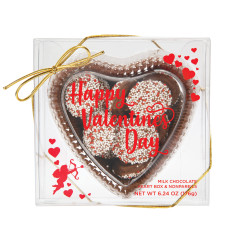 AMUSEMINTS MILK CHOCOLATE HEART WITH NONPAREILS 6.24 OZ