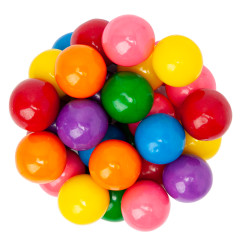 "ASSORTED GUMBALLS 1"" 850 CT"