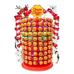 CHUPA CHUPS CHRISTMAS TREE WITH ASSORTED LOLLIPOPS 0.43 OZ