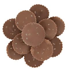 NASSAU CANDY MILK CHOCOLATE PEANUT BUTTER CUPS WITH SEA SALT