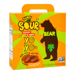 BEAR SOUR MANGO REAL FRUIT YOYOS (5 CT) 3.5 OZ BOX