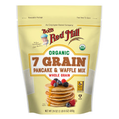 BOB'S RED ORGANIC 7 GRAIN PANCAKE MIX 24 OZ POUCH