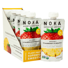 NOKA SUPERFOOD SMOOTHIE ORGANIC STRAWBERRY PINEAPPLE 4.22 OZ