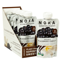 NOKA SUPERFOOD SMOOTHIE ORGANIC BLUEBERRY VANILLA 4.22 OZ