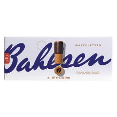 BAHLSEN WAFFELETTEN DARK CHOCOLATE WAFER ROLLS 3.5 OZ
