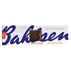 BAHLSEN DARK CHOCOLATE WAFERS 4.6 OZ BOX