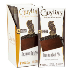 GUYLIAN PREMIUM DARK 72% 3.53 OZ BAR