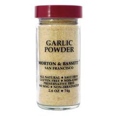 MORTON & BASSETT GARLIC POWDER 2.6 OZ SHAKER