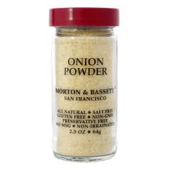 MORTON & BASSETT ONION POWDER 2.3 OZ SHAKER