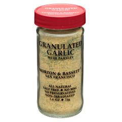MORTON & BASSETT GRANULATED GARLIC 2.6 OZ SHAKER