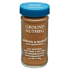 MORTON & BASSETT GROUND NUTMEG 2.3 OZ SHAKER