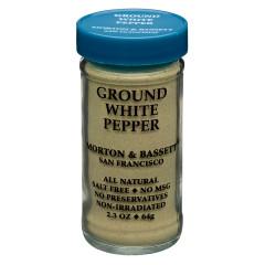 MORTON & BASSETT GROUND WHITE PEPPER 2.3 OZ SHAKER