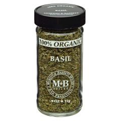 MORTON & BASSETT 100% ORGANIC BASIL .4 OZ SHAKER