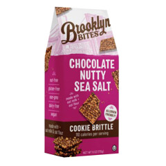 BROOKLYN BITES CHOCOLATE NUTTY SEA SALT COOKIE BRITTLE 6 OZ POUCH