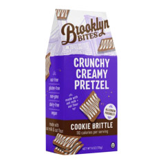 BROOKLYN BITES CRUNCHY CREAMY PRETZEL COOKIE BRITTLE 6 OZ BAG