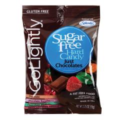 GO LIGHTLY SUGAR FREE JUST CHOCOLATES HARD CANDY 2.75 OZ PEG BAG