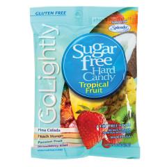 GO LIGHTLY SUGAR FREE TROPICAL FRUIT HARD CANDY 2.75 OZ PEG BAG