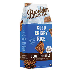 BROOKLYN BITES COCO CRISPY RICE COOKIE BRITTLE 6 OZ POUCH