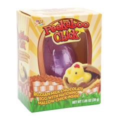 PEEKABOO CHICK MILK CHOCOLATE EGG WITH MARSHMALLOW CHICK