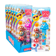 POP UPS EMOJI LOLLIPOP 1.26 OZ BLISTER PACK