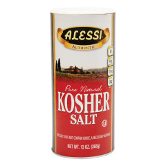 ALESSI KOSHER SALT 13 OZ SHAKER