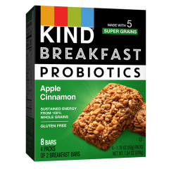 KIND - BREAKFAST PROBIOTIC - APPLE CINN(4CT) - 7.04OZ