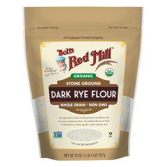 BOB'S RED MILL - ORGANIC - DARK RYE FLOUR - 20OZ