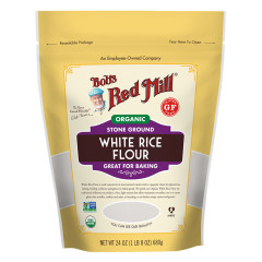 BOB'S RED MILL - ORGANIC WHITE RICE FLOUR - 24OZ