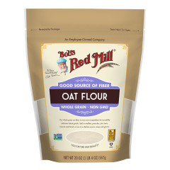 BOB'S RED MILL WHOLE GRAIN OAT FLOUR 20 OZ POUCH