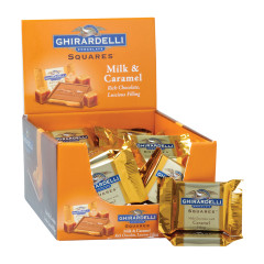 GHIRARDELLI - SQUARES - MILK CHOCOLATE CARAMEL FILLED - .53OZ