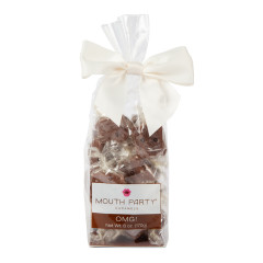 MOUTH PARTY CHOCOLATE COVERED CARAMELS GIFT BAG 6 0Z *SF DC ONLY*