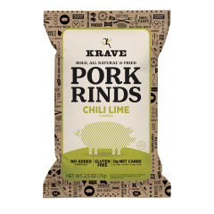 KRAVE CHILI LIME PORK RINDS 2.5 OZ POUCH