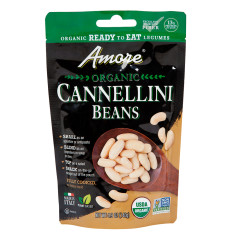AMORE ORGANIC CANNELLINI BEANS 4.9 OZ POUCH