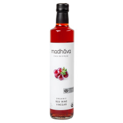 MADHAVA ORGANIC RED WINE VINEGAR 16.9 OZ BOTTLE