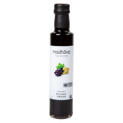 MADHAVA ORGANI BALSAMIC VINEGAR 8.5 OZ BOTTLE
