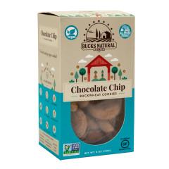 BUCKS NATURAL - BUCKWHEAT COOKIES - CHOCOLATE CHIP - 6OZ